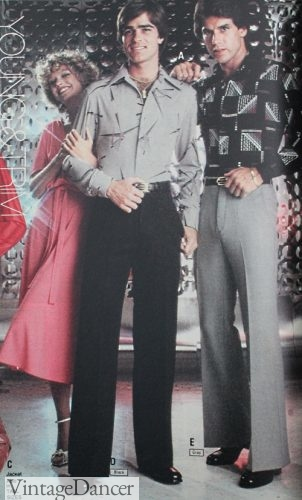 1978 men's disco shirts and pants