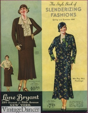 ecb7f3e9a68f 1930s Dresses catalog for Plus Sizes. Shop new 1930s plus sizes dresses.  1930s Lane Bryant ...