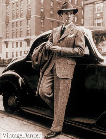 1940, men's wool tweed suit