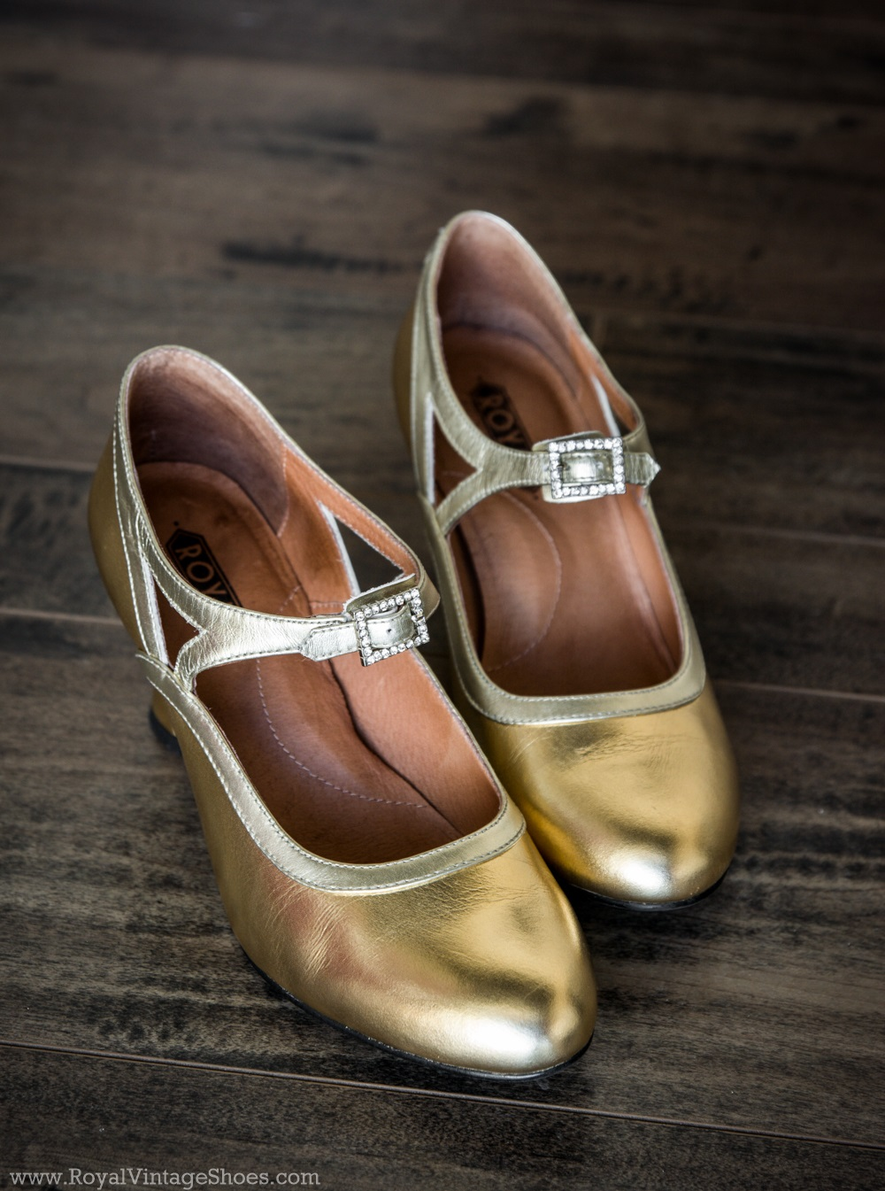1920s Style Shoes  Roxy 1920s Flapper Shoes by Royal Vintage Gold Pre-Order $150.00 AT vintagedancer.com