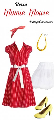 Retro vintage minnie mouse costume idea at vintagedancer.co