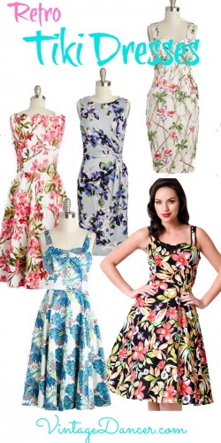 Shop retro vintage Tiki dresses for that 1940s and 1950s summer party. Sahafah24.info