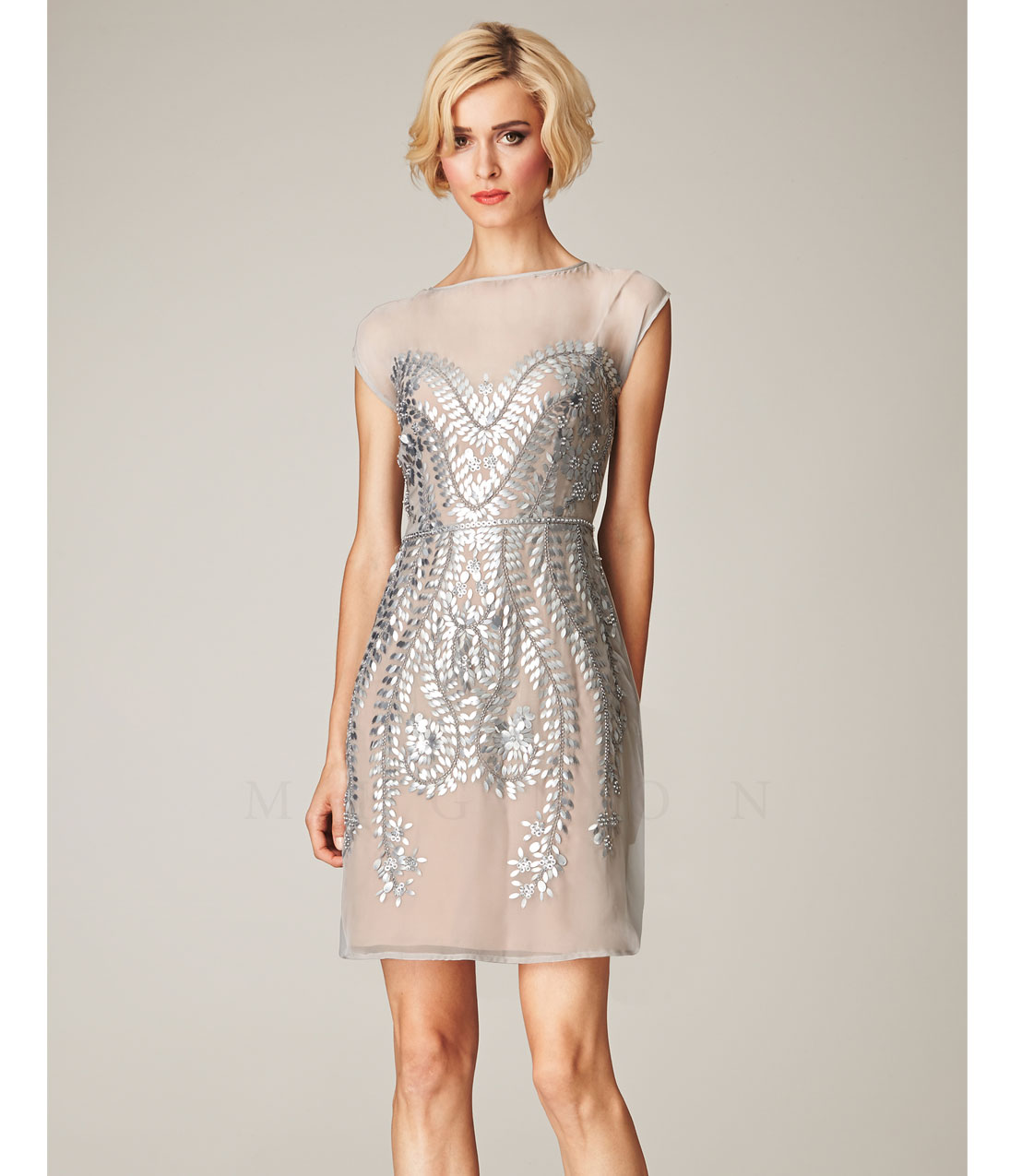 Short Silver Formal Dresses