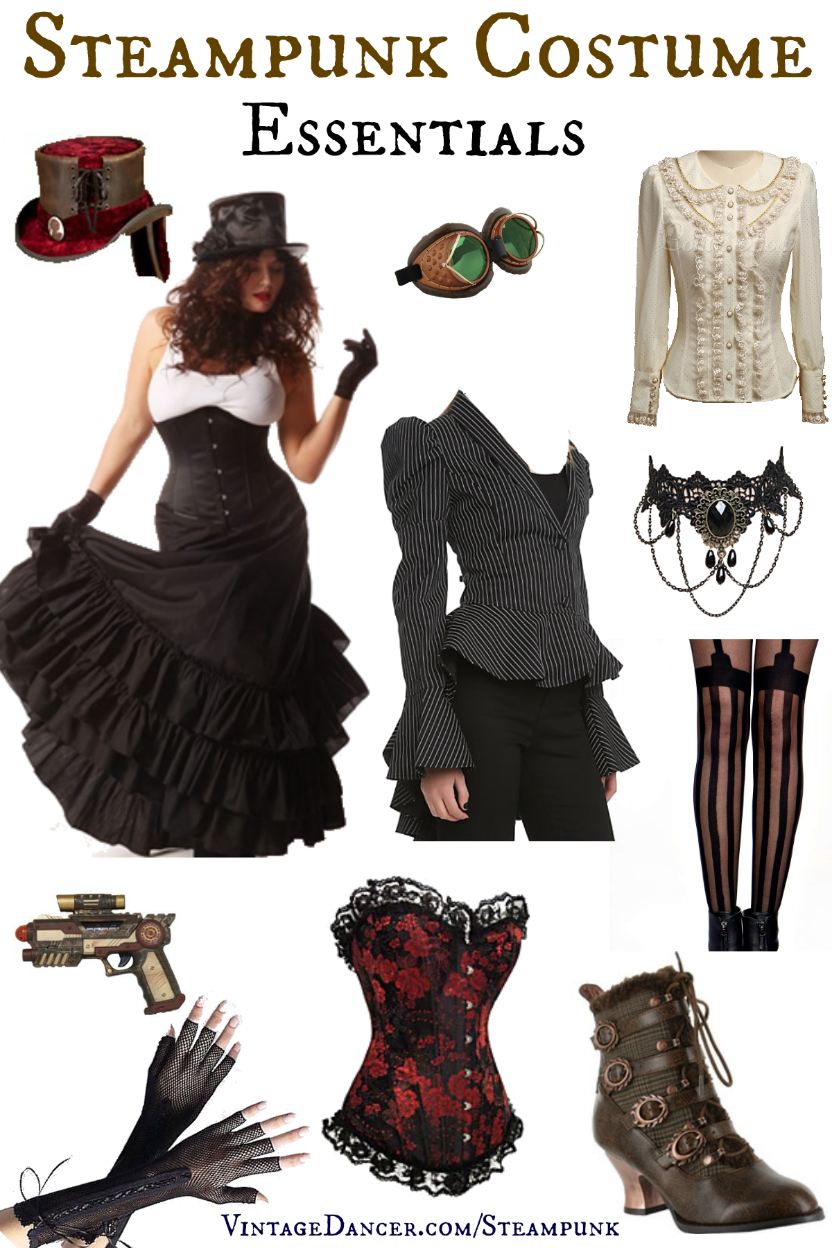 Steampunk Costume Essentials for Women