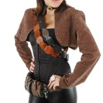 Steampunk women's vests, shrugs, boleros