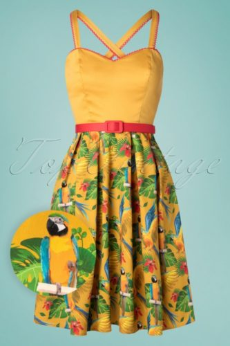 Enchanted Tiki Room Disney Bounding Dapper Day Dress