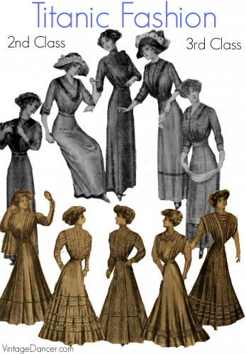Titanic fashion for second and third class passengers. What did they wear? Answers at Sahafah24.info