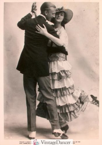 Vern and Irene Castle dancing dancing the Stomp around 1919
