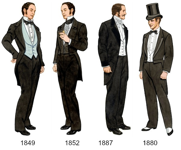 Evolution of men's evening wear