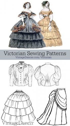 Victorian sewing patterns, by Truly Victorian, are some of the best available.