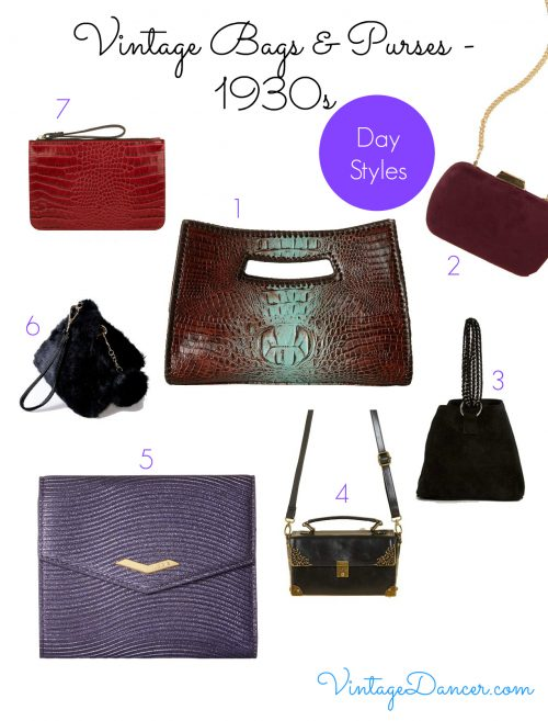 Choose from this selection of bags to create a 1930s style.