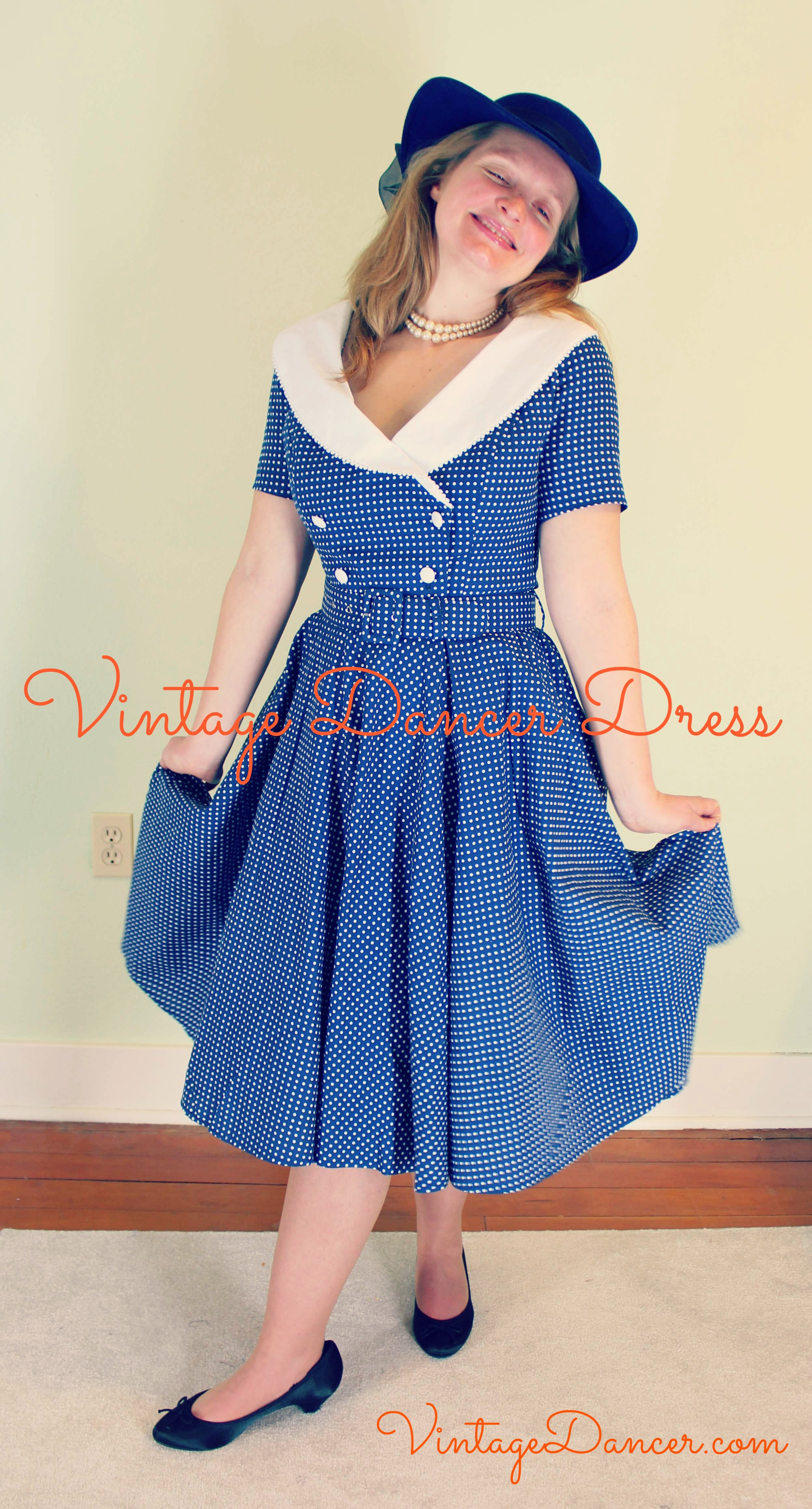 The Vintage Dancer Dress -1950's Swing Dress Review