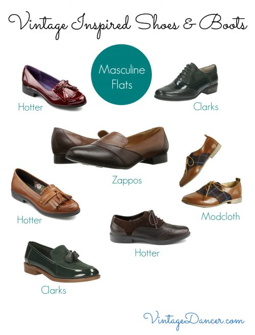Flat shoes can be both versatile and stylish. Choose from this great selection to complete a vintage inspired style.