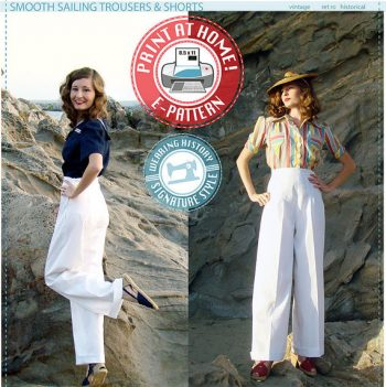 Wearing History sewing patterns have excellent choices from Edwardian to the 1940s. Find more great vintage reproduction pattern companies.