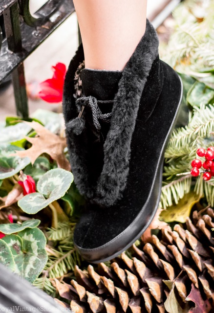 Pin Up Shoes- Heels, Pumps & Flats Aspen Retro Winter Booties  Black $195.00 AT vintagedancer.com