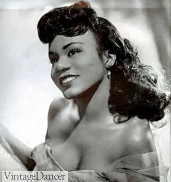 Long curly African-American hair 1940s