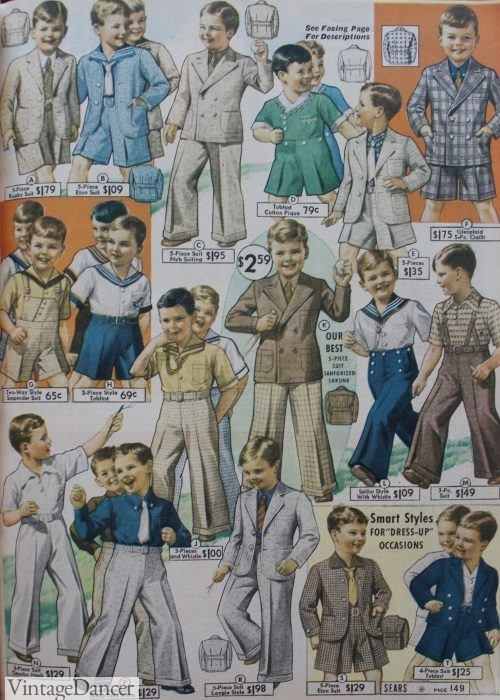 1930s boys kids clothes