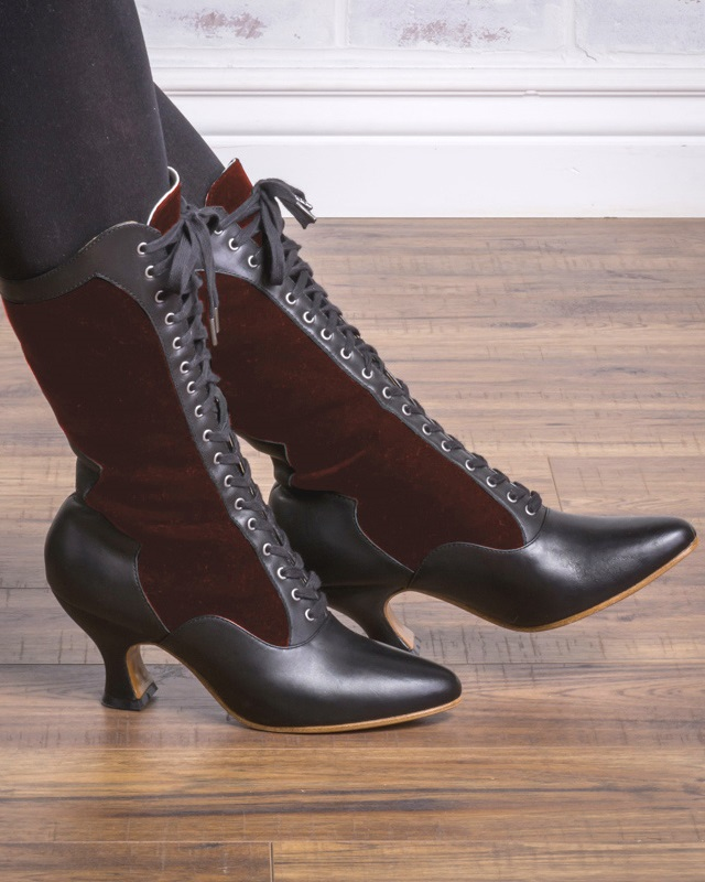 Vintage Style Shoes, Vintage Inspired Shoes Camille Boots by American Duchess $199.00 AT vintagedancer.com