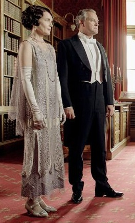 Downton Abbey elegant beaded dress worn by Cora.
