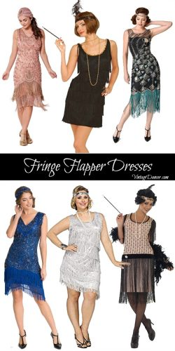 Fringe flapper dress- short and long- fringe flapper costumes. Shop them at VintageDancer.com