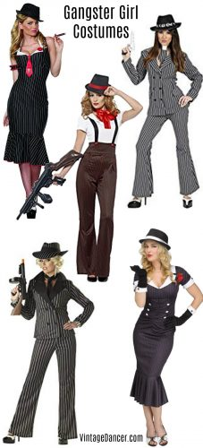 Gangster costume, gangster female outfit ideas