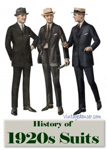 histoyr of fashion 1920s mens suits