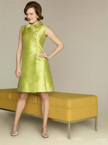 mad men peggy green 1960s shift dress