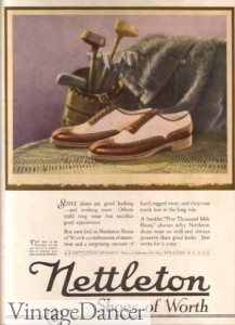 1920s two tone shoes