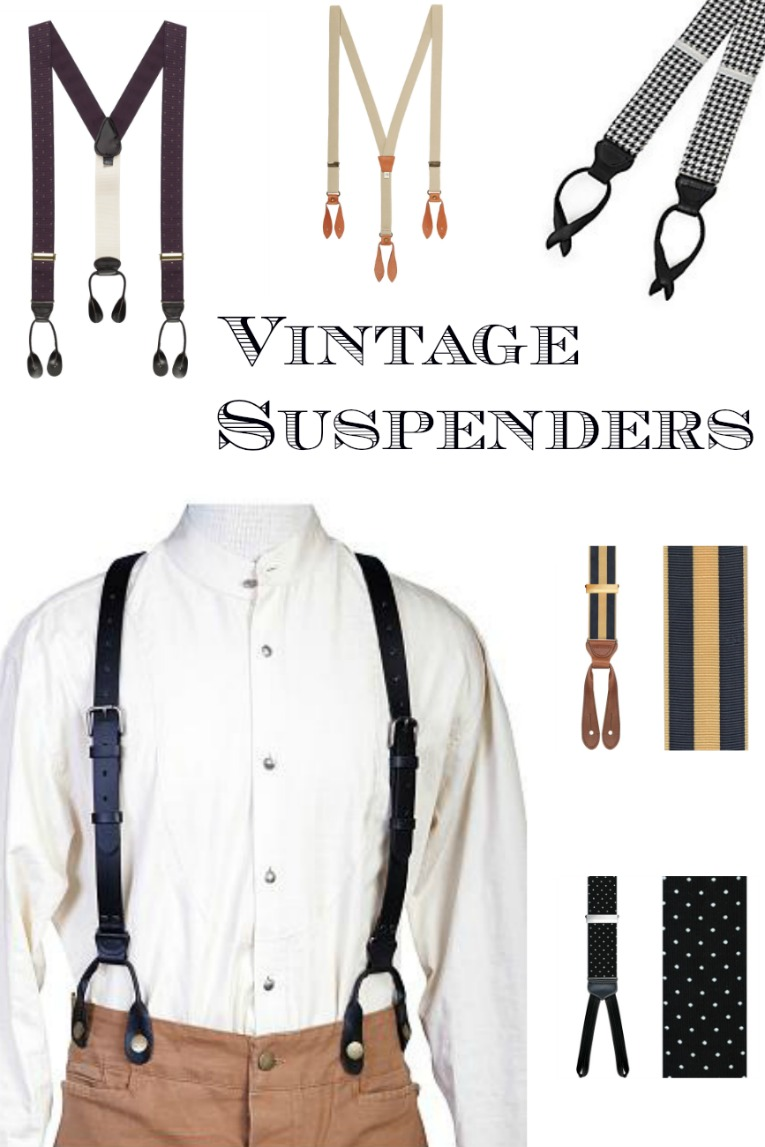 Find men's vintage style suspender braces at Sahafah24.info