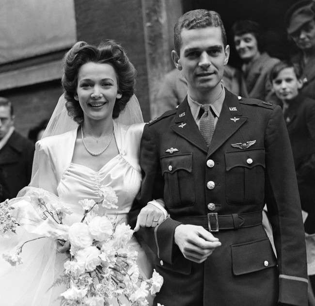 1940s Wedding Dresses & Groom Attire