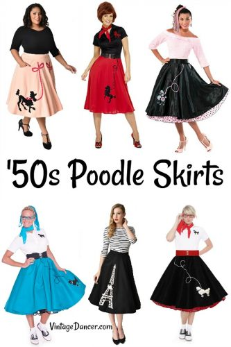 '50s poodle skirts and poodle skirt costumes at #vintagedancer
