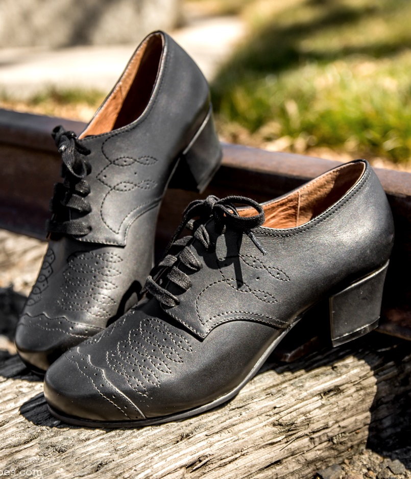 1940s Womens Footwear Ruth 1940s Oxfords  Black $160.00 AT vintagedancer.com