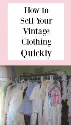 Selling Your Vintage Clothes FAST