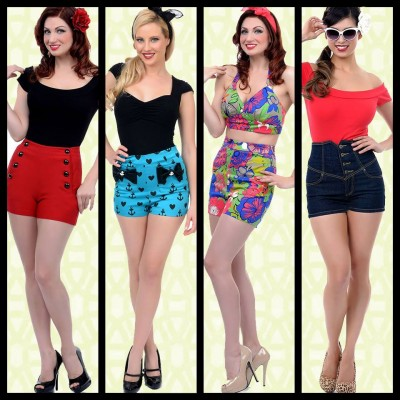 Vintage high waisted shorts, 1950s shorts for sale online