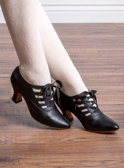 Vintage Style Shoes, Vintage Inspired Shoes Theda Shoes by American Duchess (Black) $165.00 AT vintagedancer.com