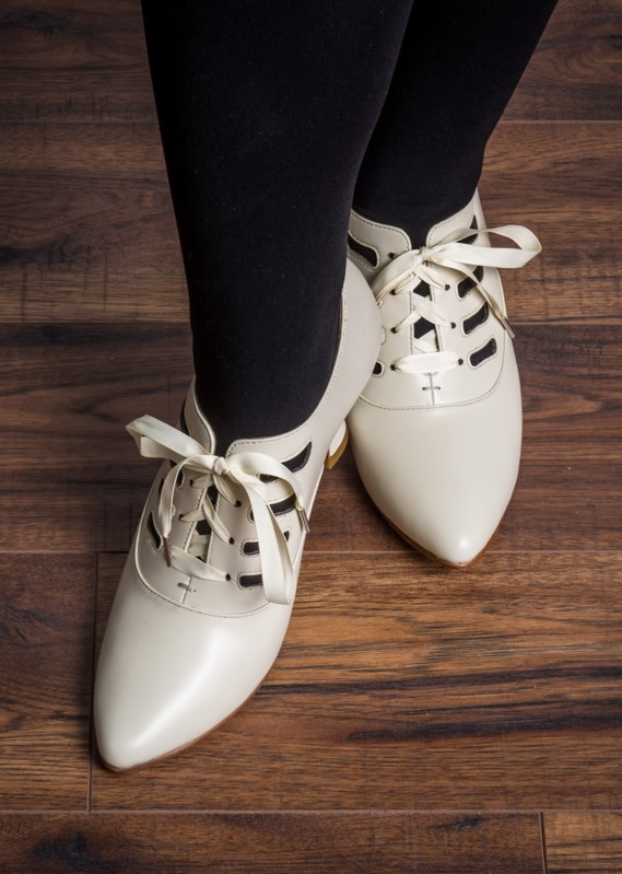 1920s Shoes UK – T-Bar, Oxfords, Flats Theda 1920s Shoes by American Duchess (Ivory) $165.00 AT vintagedancer.com