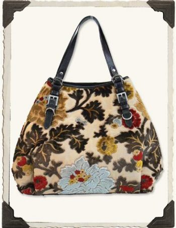 Victorian inspired carpet bag from Victorian Trading Co